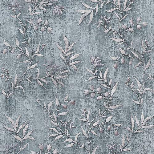 Brewster 2811-JY11104 Advantage Dahlia Blue Trail Wallpaper Blue