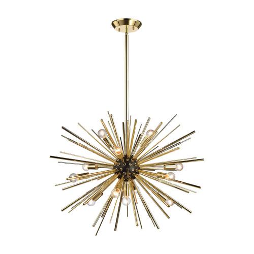 Dimond lighting 1140-025 Starburst 12 Light Pendant In Gold