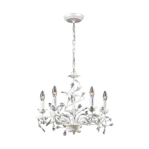 Circeo 5 Light Chandelier In Antique White ELK 18113/5