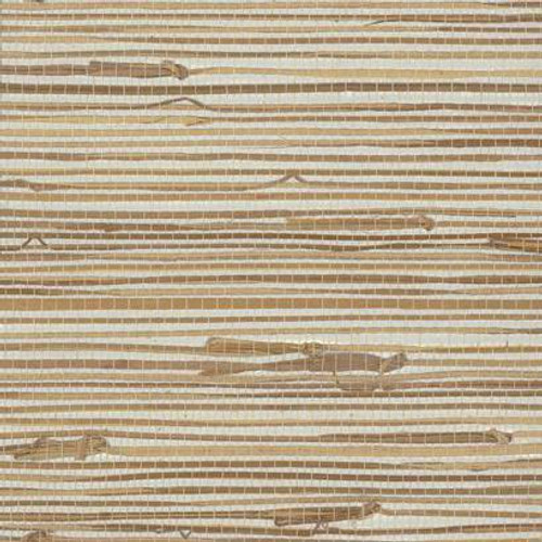 York Wallcoverings VG4441 Wide Knotted Grass Wallpaper  Metallic