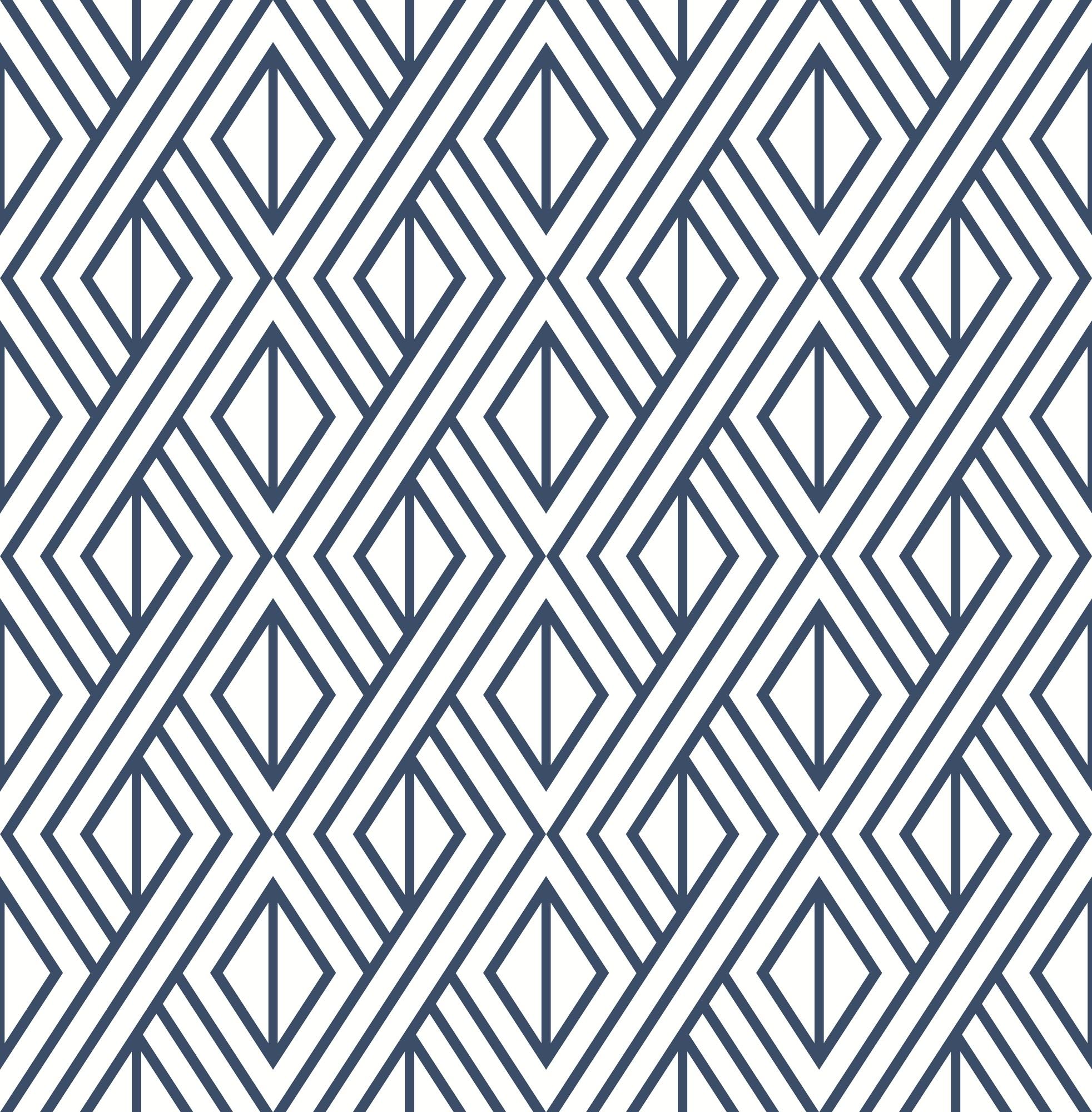 Nextwall Nw30106 Diamond Geometric Navy Blue Peel Stick Wallpaper The Savvy Decorator