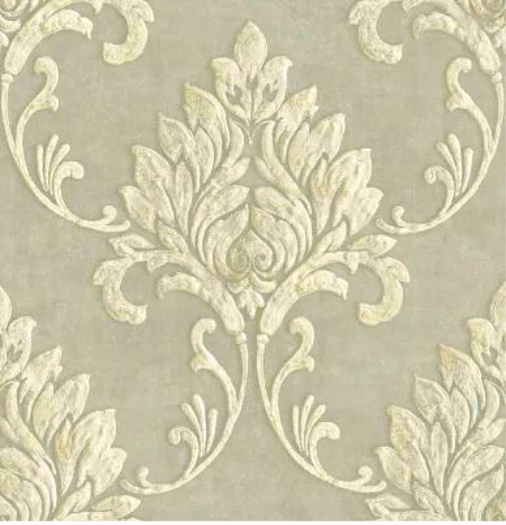 Gw1012 Grace Gardenia Cream Metallic Gold Damask Peel Stick Wallpaper The Savvy Decorator
