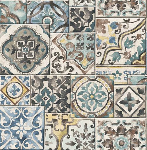 paper mosaic original Handmade collage Thanet Richborough Power Station Poster