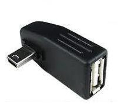 SKYMASTER Mini USB M to USB F Angular Adapter