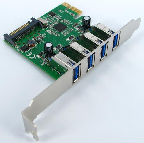 EU306D2 SKYMASTER PCIe USB3.0 4 PORT CARD