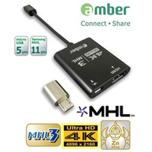 MHL3 HDMI Adapter & MHL 11-pin adapter, connect your phone to 4K TV