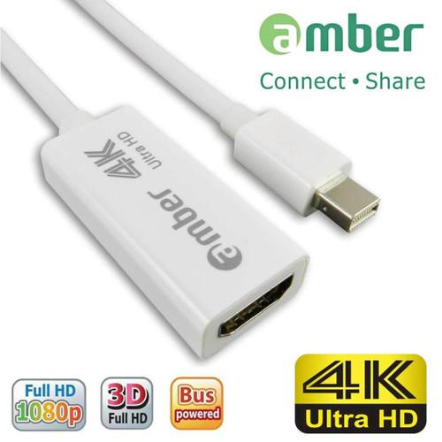 AMBER MDP-11  MINI DISPLAY PORT TO HDMI 4K ADAPTER