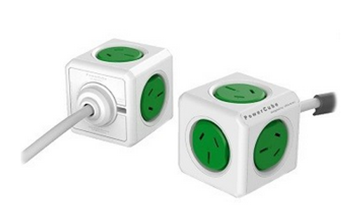 Allocacoc Powercube Extended Green 5 Outlets With 1.5M Cable