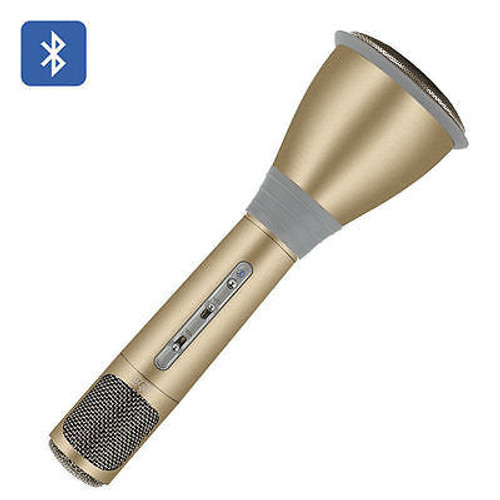Tosing K068 Wireless Bluetooth Microphone, Sing Karaoke, Gold