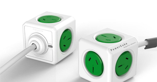 ALLOCACOC POWERCUBE Extended Boston GREEN-5 Outlets- 3.0m CABLE
