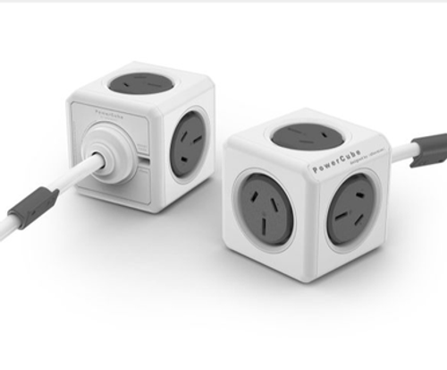 ALLOCACOC POWERCUBE Extended Boston GREY-5 Outlets- 3.0m CABLE