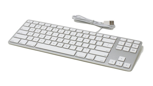 Matias Silver Wired Aluminium Tenkeyless Keyboard for Mac