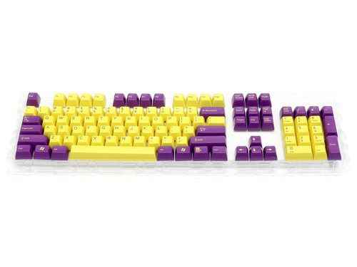 Filco Double-shot 104-Key keycap set for Majestouch 2 - Purple & Yellow