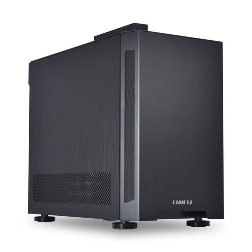 Lian Li PC-TU150X Black Mini ITX Aluminum/Solid Side Panel Case, No PSU