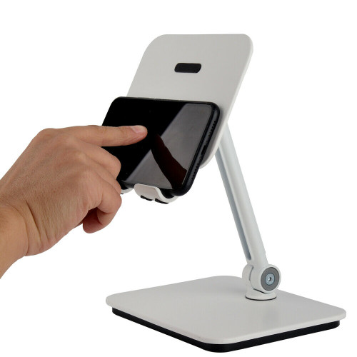 BlueEye 3-in-1 Full Motion Smartphone & Tablet & Notebook Stand Holder - White
