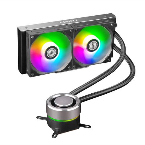 Lian Li Galahad 240 Closed Loop ARGB AIO Liquid CPU Cooler - Black