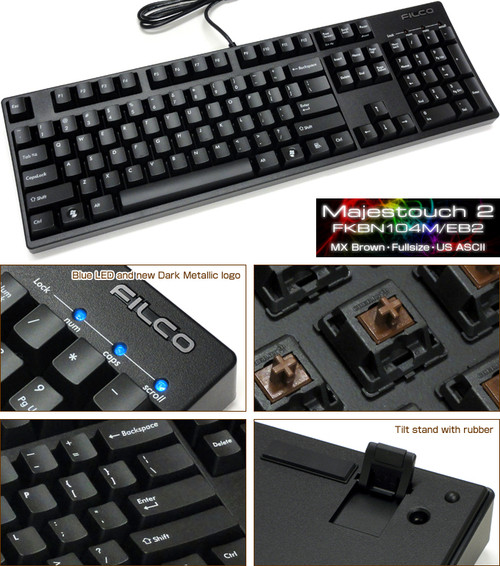 N104M/EB2 MAJESTOUCH 2 NKEY ROLLOVER BROWN SWITCH KEYBOARD