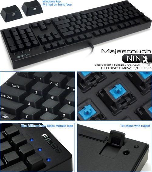 N104MC/EFB2 NINJA 104 BLUE SWITCH KEYBOARD