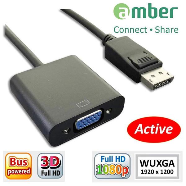 Amber DPV-02 DisplayPort to VGA Active Adapter