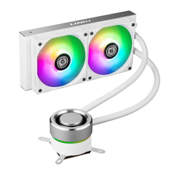 Lian Li Galahad 240 Closed Loop ARGB AIO Liquid CPU Cooler - White