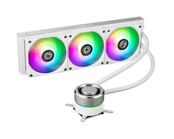 Lian Li Galahad 360 Closed Loop ARGB AIO Liquid CPU Cooler - White