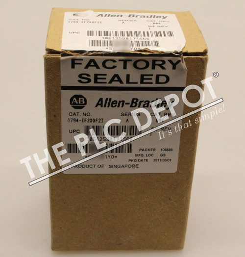 BRAND NEW ORIGINAL BOX! Allen Bradley 1794-IF2XOF2I Flex I/O Analog IF2X0F2I