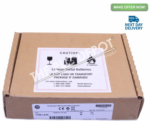 2013 SEALED! Allen Bradley 1756-L63S /B GuardLogix *FREE EXPEDITED  DELIVERY*