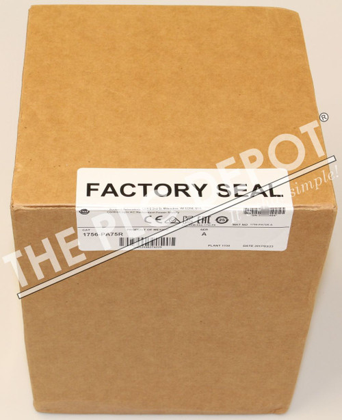 SEALED Allen Bradley 1756-PA75R /A 2017 ControlLogix REDUNDANT POWER SUPPLY