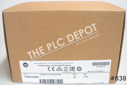 2018 Sealed New Allen Bradley 1768-ENBT /A EtherNet/IP CompactLogix #838