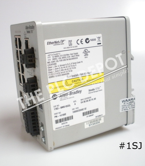 ALLEN BRADLEY 1783-BMS10CGL Stratix 5700 Ethernet Switch 10-Port #1SJ