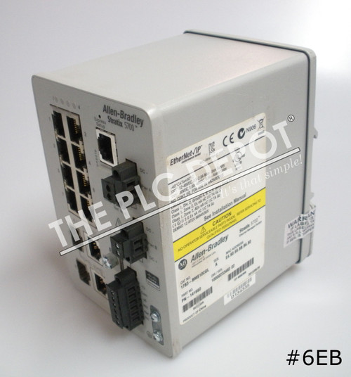 ALLEN BRADLEY 1783-BMS10CGL Stratix 5700 Ethernet Switch 10-Port #6EB