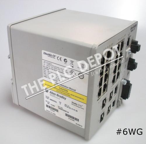 ALLEN BRADLEY 1783-BMS20CGL Stratix 5700 Ethernet Switch 2015 #6WG