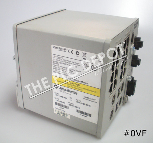 ALLEN BRADLEY 1783-BMS20CGL Stratix 5700 Ethernet Switch #0VF