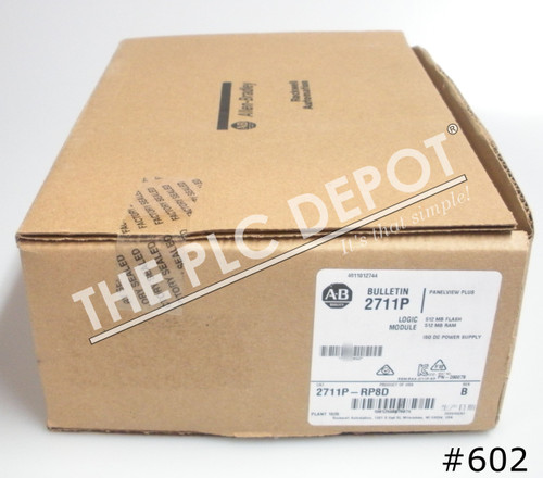 2020 NEW OPEN BAG SEALED PLASTIC Allen Bradley 2711P-RP8D /B PanelView Plus 6 Logic #602