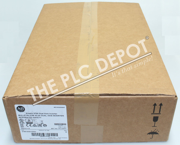 2019 SEALED Allen Bradley 2198-D020-ERS3 Kinetix 5700 Dual-Axis Inverter Integrated Safety