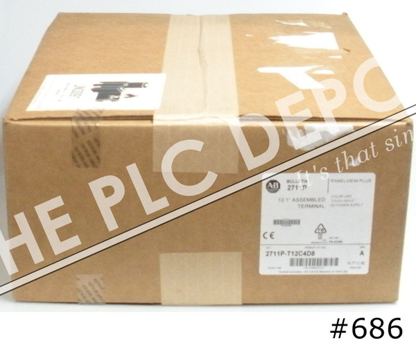 2020 SEALED Allen Bradley 2711P-T12C4D8 PanelView Plus 6 1250 Touch/Color #686