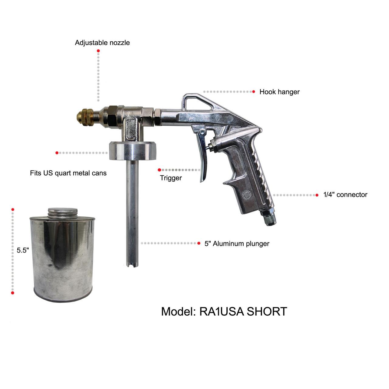 Undercoating Economy Spray Gun RA/1USASHORT