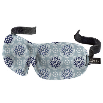 """NEW FOR 2021! Starling Mandala •  9"""" wide and 3.15"""" tall. Eyecups are approximately .5 inch deep. •  Ultralight, this sleep mask weighs only .7 ounces or 37 grams •  Hypoallergenic and hand washable •  Deep molded cups allow you to blink freely"""