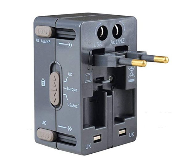 Suitable for use in most countries around the world. Simply release the relevant pins to suit the country you visit.  Note: adapter does not convert voltage.