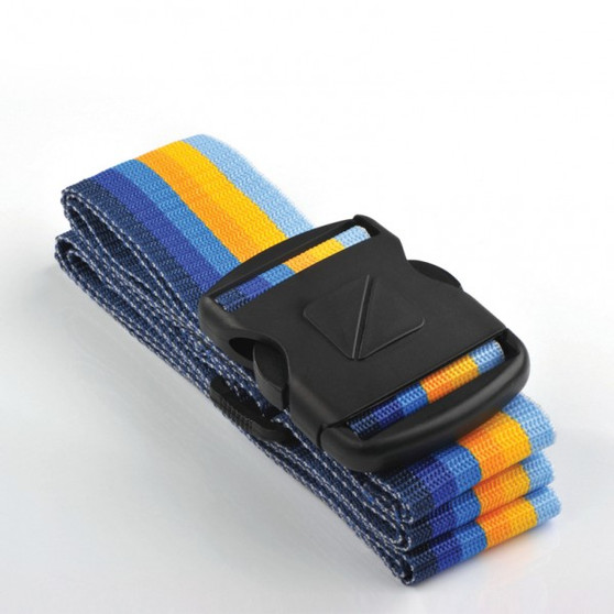 "Heavy Duty 2"" Luggage Strap - Multicolor Blue/Yellow: Add a touch of color to your travels. This brightly colored suitcase strap is ideal in keeping your case closed shut and instantly recognizing your bag while traveling."