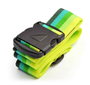 "Heavy Duty 2"" Luggage Strap - Multicolor Green/Yellow: Add a touch of color to your travels. This brightly colored suitcase strap is ideal in keeping your case closed shut and instantly recognizing your bag while traveling."