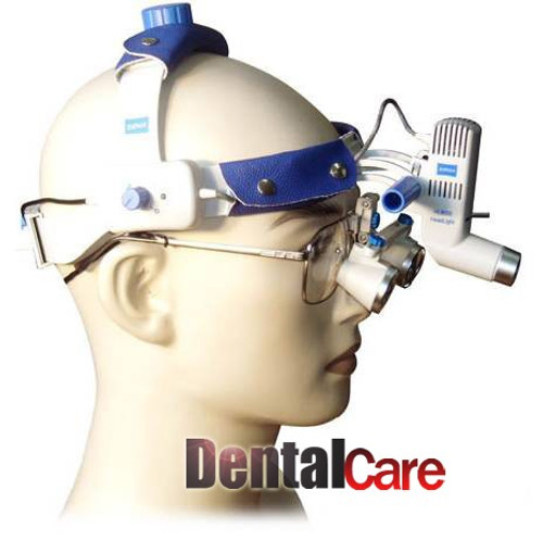 Dental Lab Portable Led Head Light With Binocular Loupe