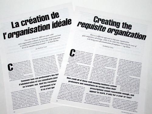 Creating a Requisite Organization