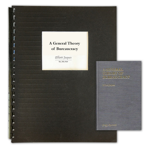 A General Theory of Bureaucracy - GBC Bound Photocopy