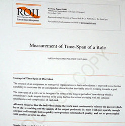 # 1008 Working Paper - Measurement of Time-Span of a Role
