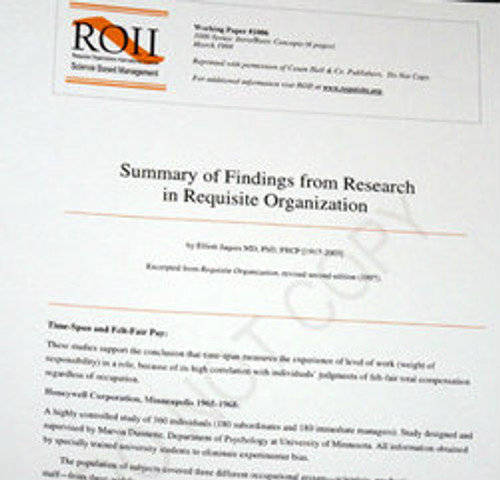 # 1006 Working Paper - Summary of Findings from Research