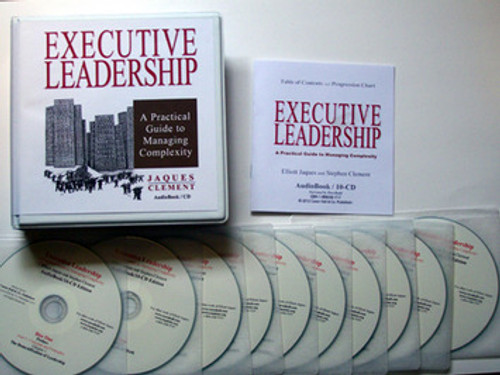 Executive Leadership Audio Book w/ Hardcover book print edition