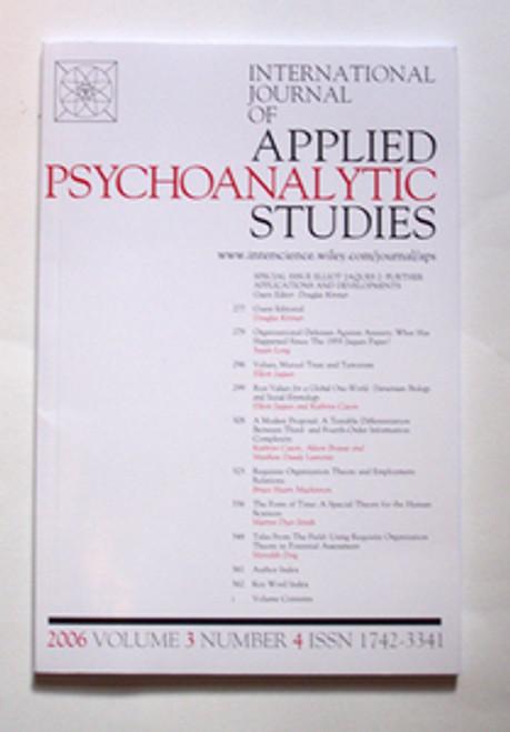International Journal of Applied Psychoanalytic Studies 2006