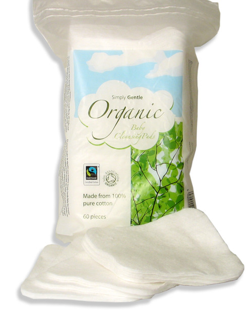 'Simply Gentle' Organic Cleansing Pads: 4 Pack