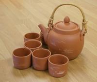 Crane Earthenware Six Cup Teaset